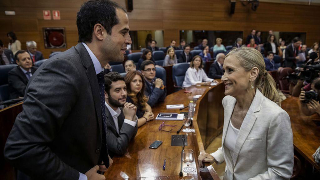 Cristina Cifuentes, investida Presidenta de la Comunidad de Madrid con el apoyo de Ciudadanos