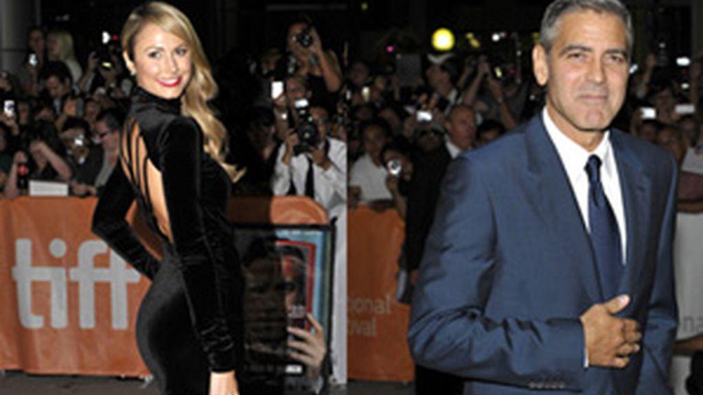 Clooney y Keibler en el Festival de cine de Toronto. Fotos: Reuters