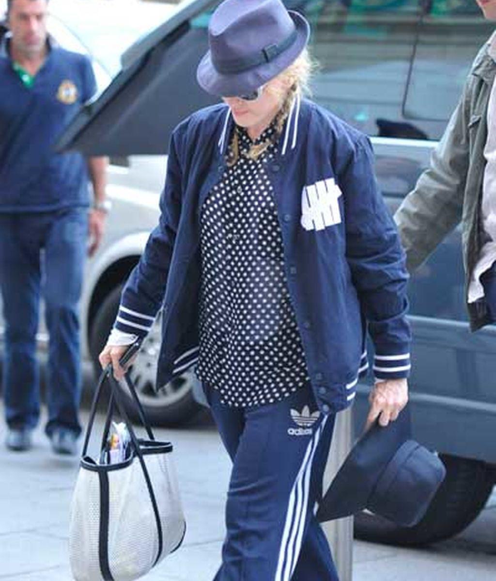 Madonna llegando al hotel Ritz