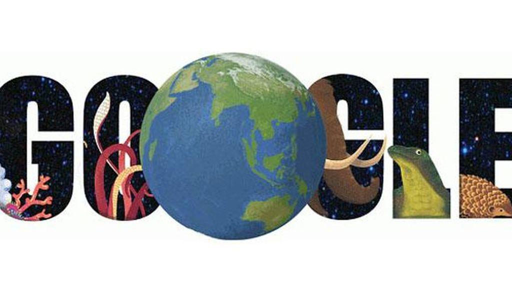 Google, doodle, Día de la Tierra