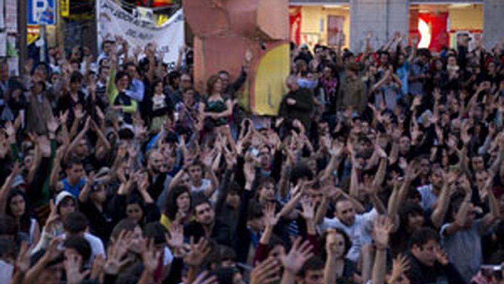 Imágenes del Movimiento 15M. GTRES.