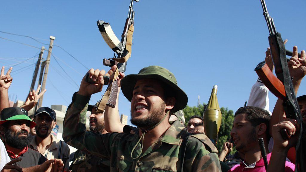 Los rebeldes libios celebran la toma de Zawiya
