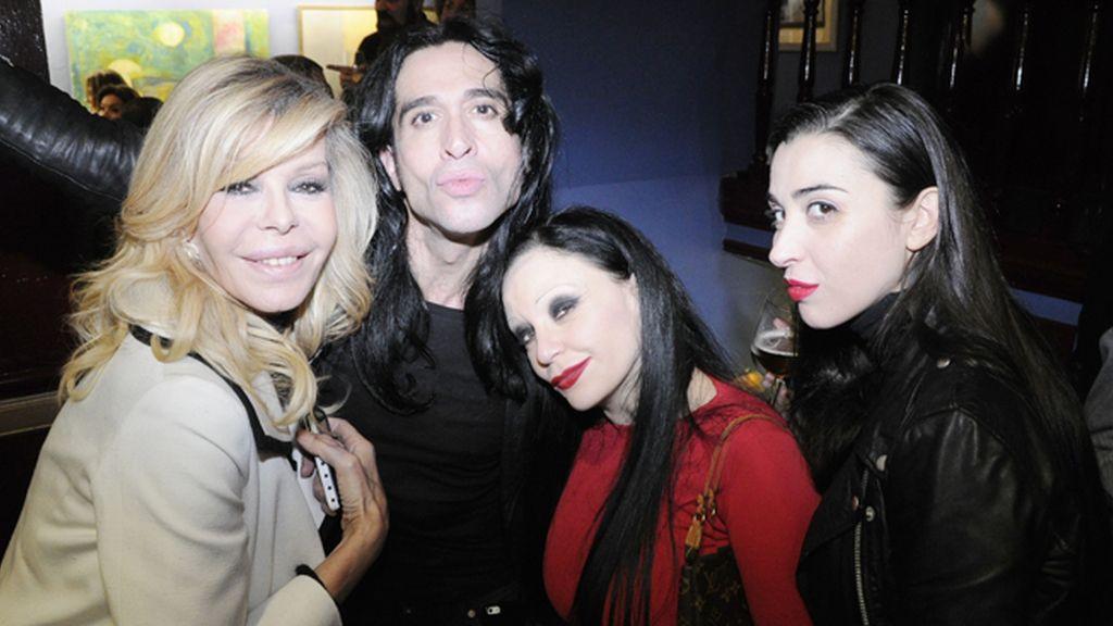 Bibiana Fernández, Mario Vaquerizo, Alaska y Marta Vaquerizo