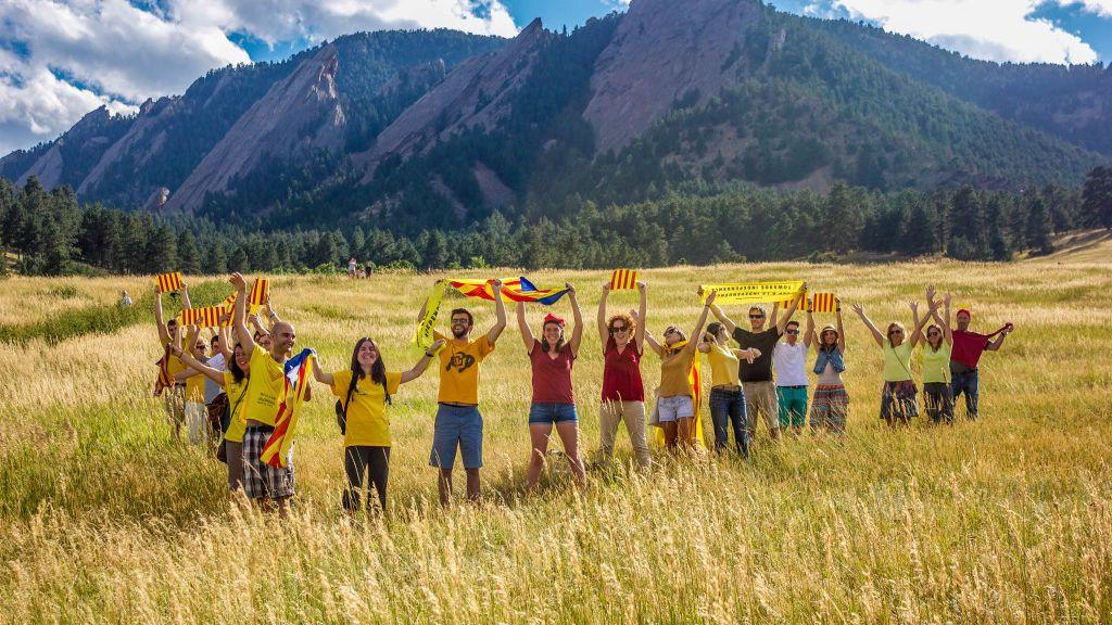 Catorce ciudades extranjeras ensayan la 'V' para pedir celebrarla