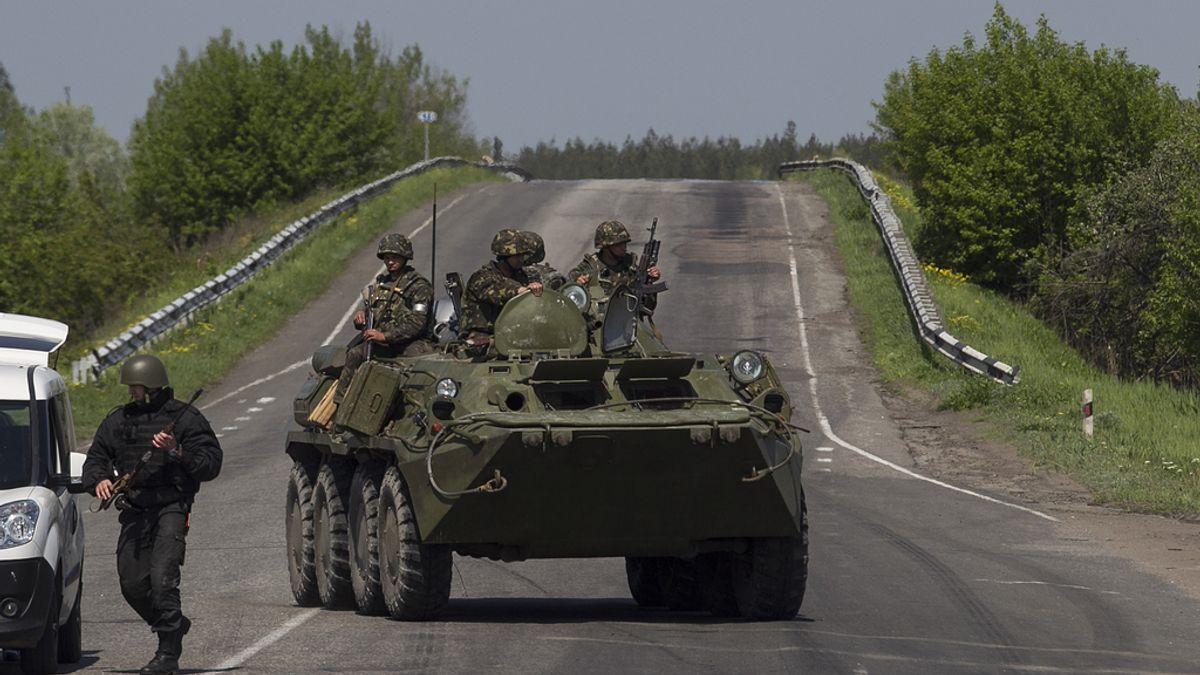 Puesto de control en Slaviansk