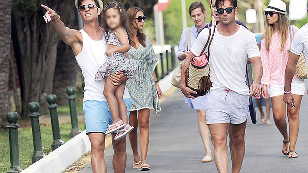 La familia de Bustamante están pasando unos días en Marbella
