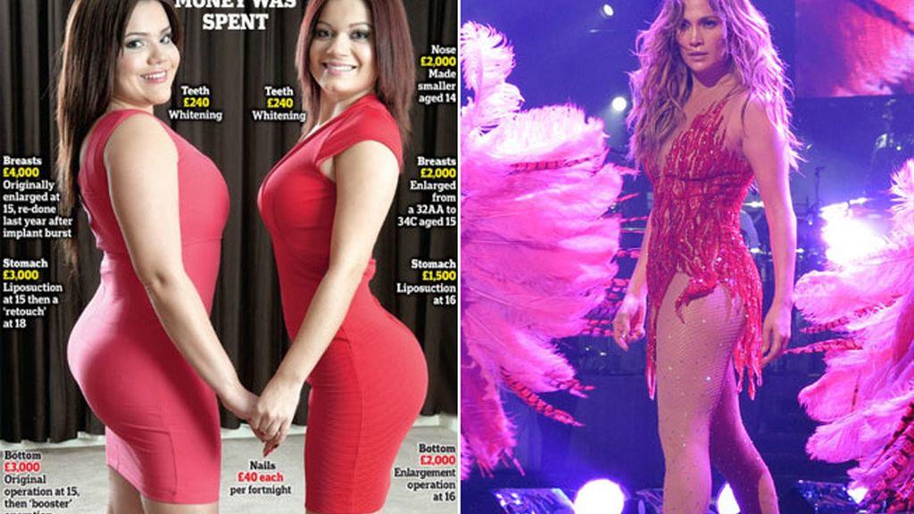 Una madre gasta más de 23.000 euros en que sus hijas se parezcan a Jennifer Lopez