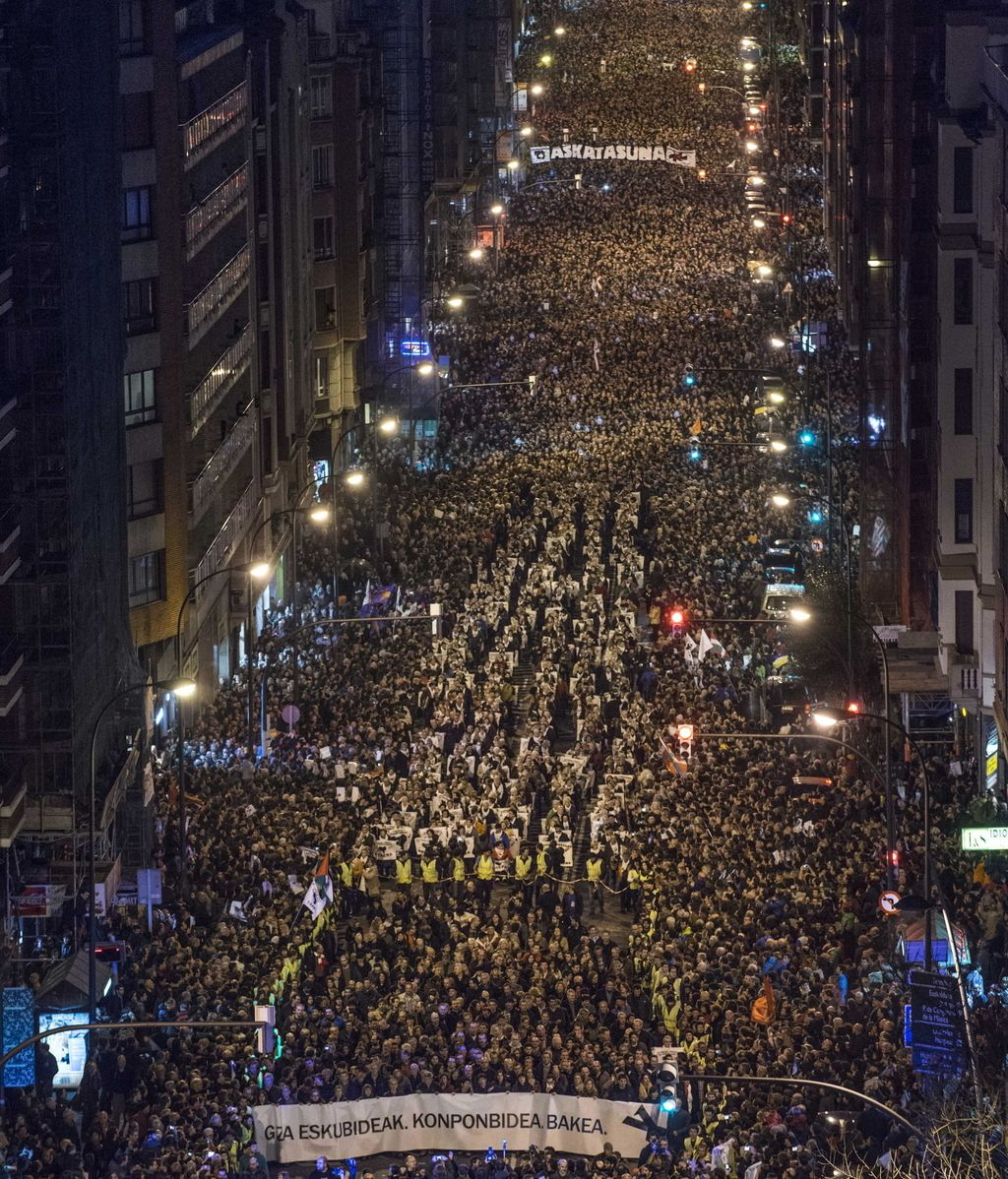 Marcha en Bilbao. Foto: EFE
