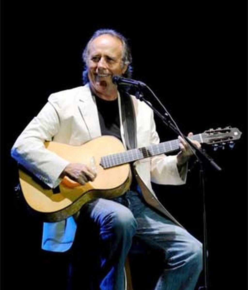 Serrat, en un concierto en Peralada, Girona. Foto: Archivo.
