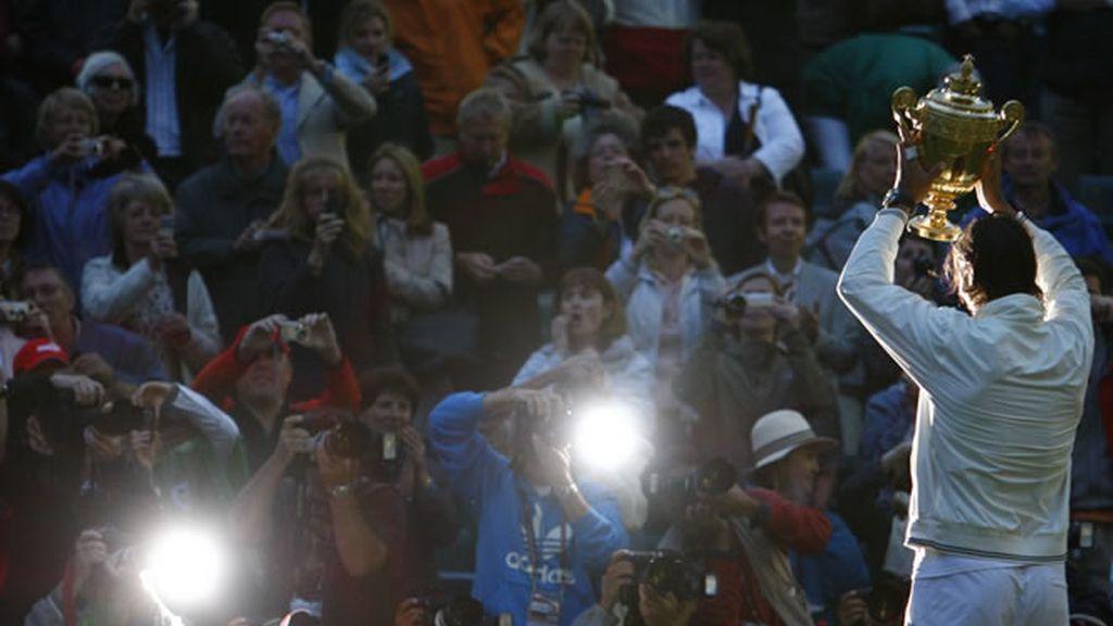 Una estrella ilumada en Wimbledon: Rafa Nadal