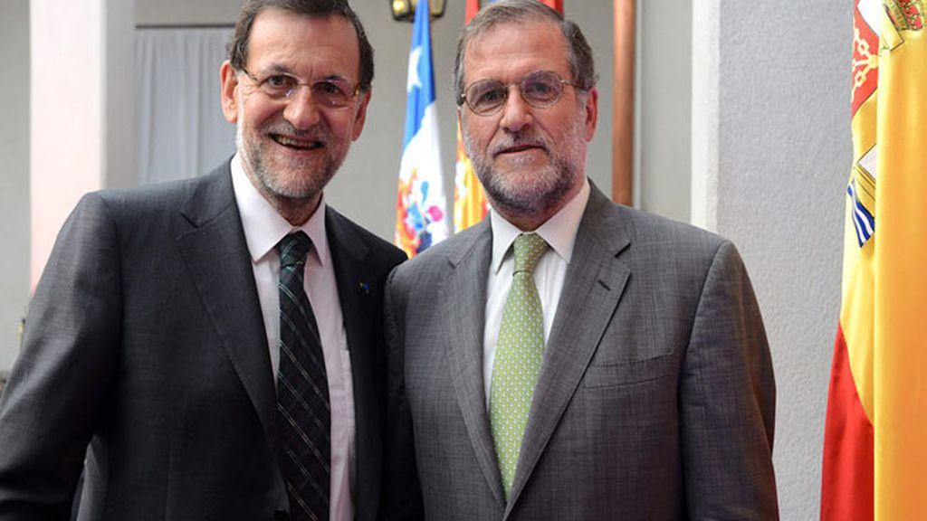 Mariano Rajoy y su doble Gastón Cruzat