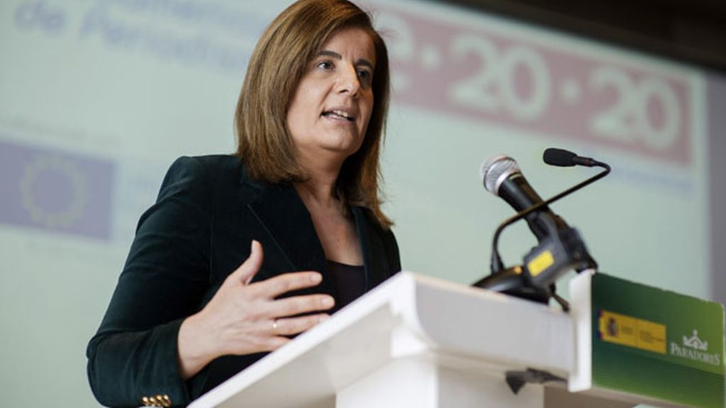 Fátima Báñez durante el VII Congreso Iberoamericano de Periodismo