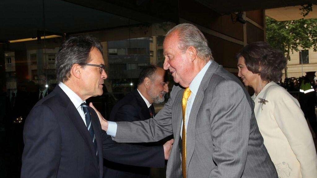 El rey con Artur Mas en Barcelona