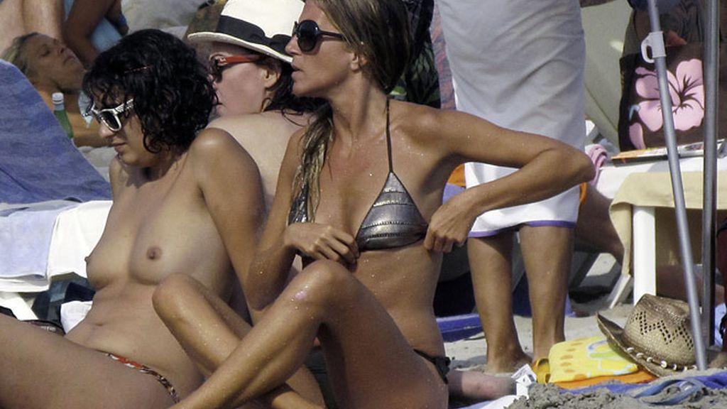 Natalia Álvarez, ex de Rafi Camino, en Ibiza