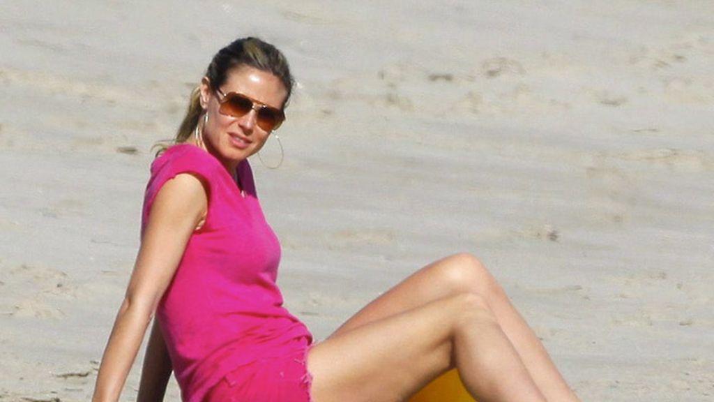 Heidi en la playa