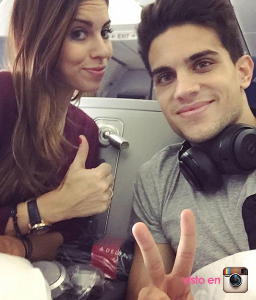 Marc Bartra y Melissa Jimenez NY