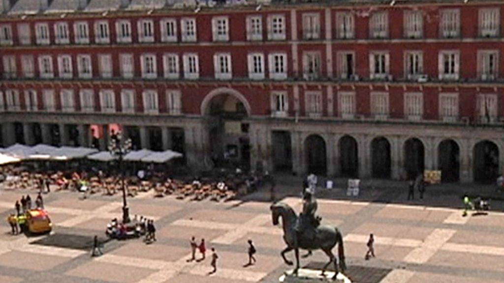 Vista aérea de la Plaza Mayor de Madrid