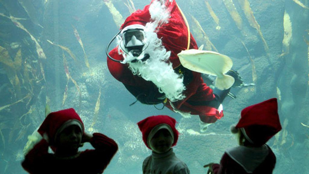 Papá Noel submarino