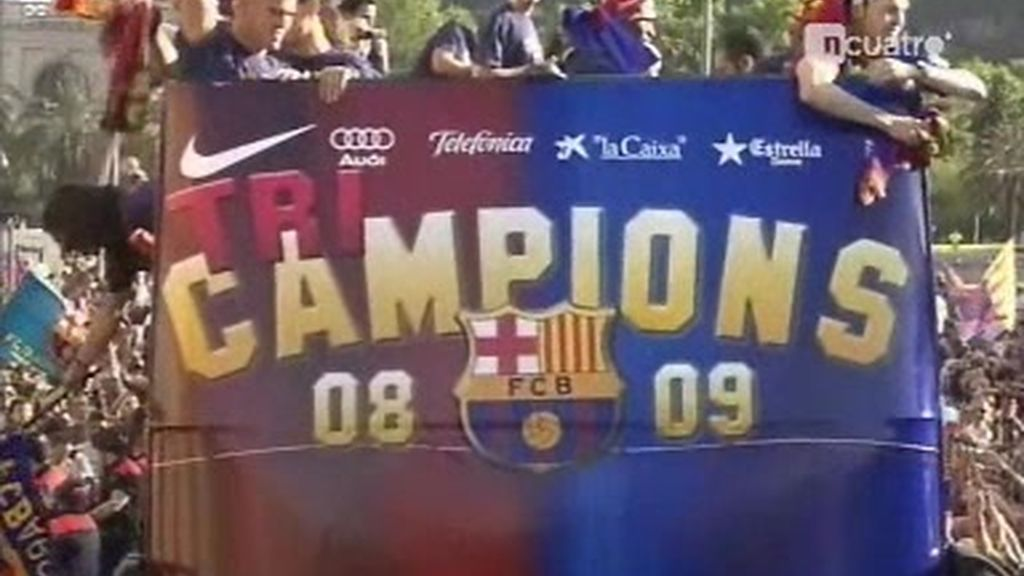 Un millón de personas en la calle para acoger al Barcelona