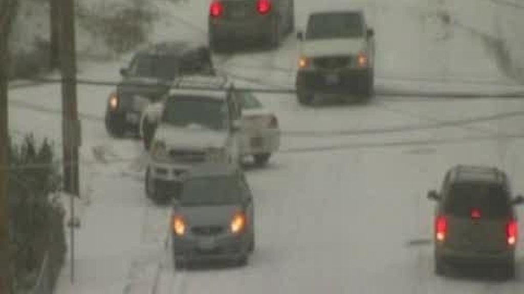Cuidado con las heladas en las carreteras