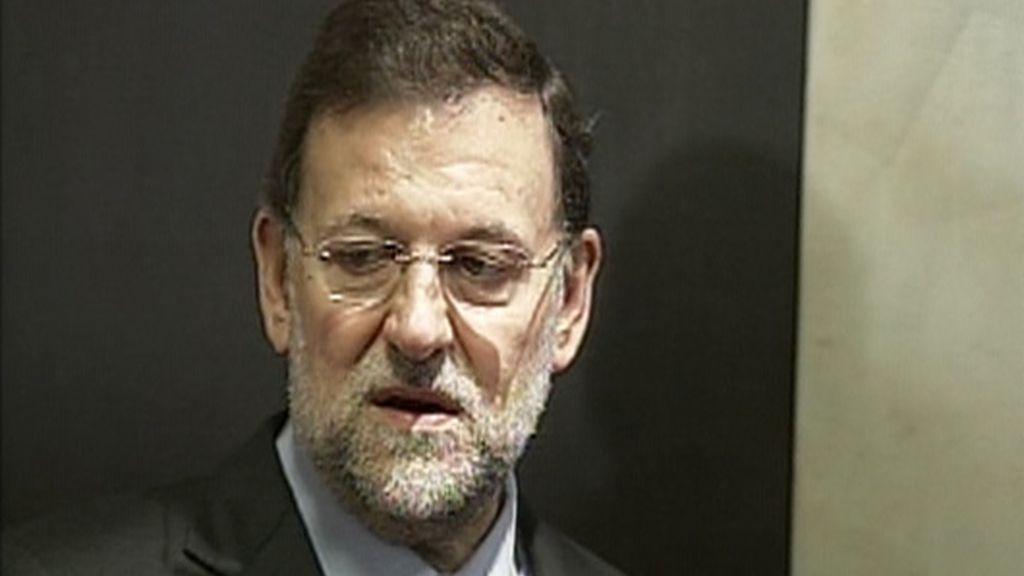 Rajoy, ante los medios