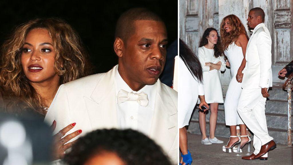Beyoncé, Jay Z y el resto de invitados también vistieron de blanco