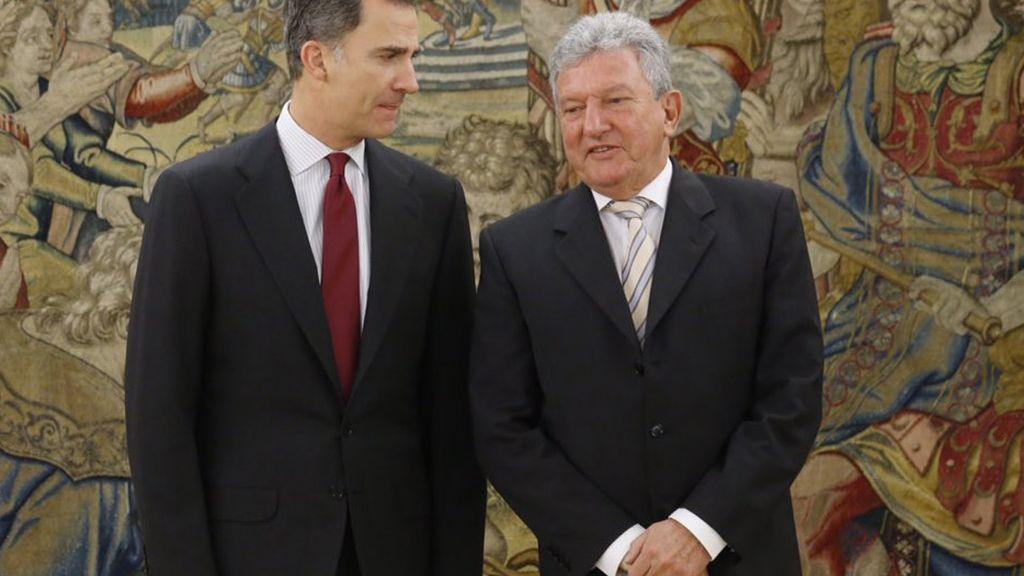 El Rey recibe a Pedro Quevedo Iturbe, de Nueva Canarias