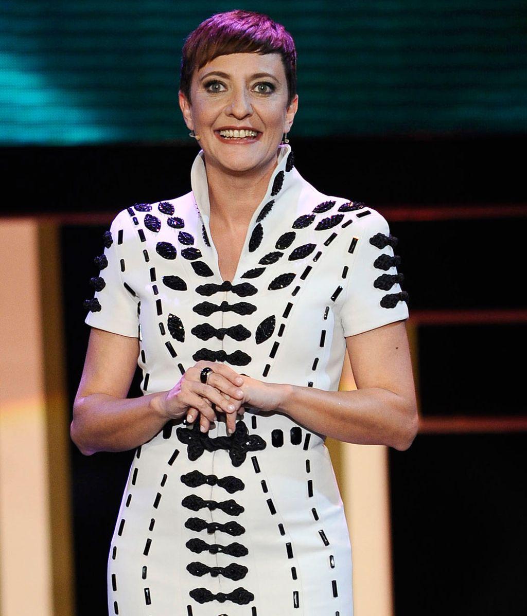 Eva Hache durante la gala de los premios Goya 2013