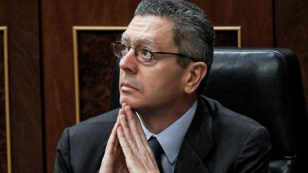 El ministro Alberto Ruiz Gallardón en el Congreso