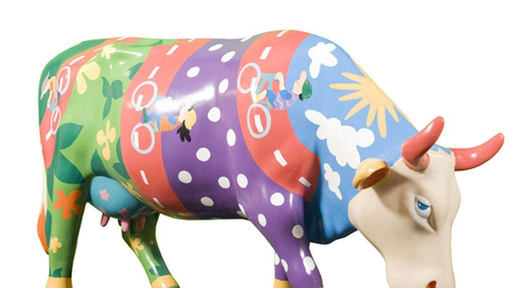 Imagen de la vaca que fue robada, Albertina Pinturina. Foto: Cow Parade.