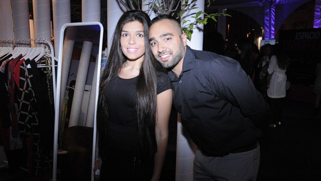 Tomás Rodríguez posando con su hermana Sonsoles