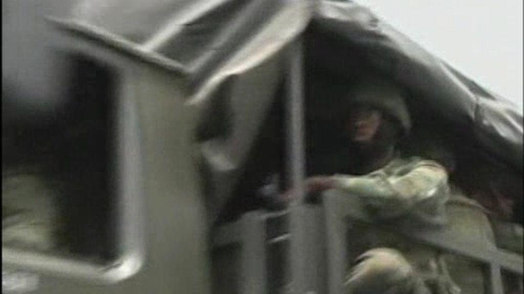 Con tanques en Favela