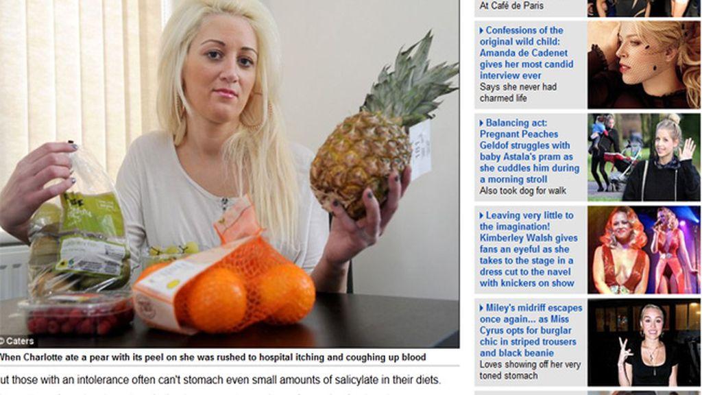 Mujer que no puede comer frutas y verduras