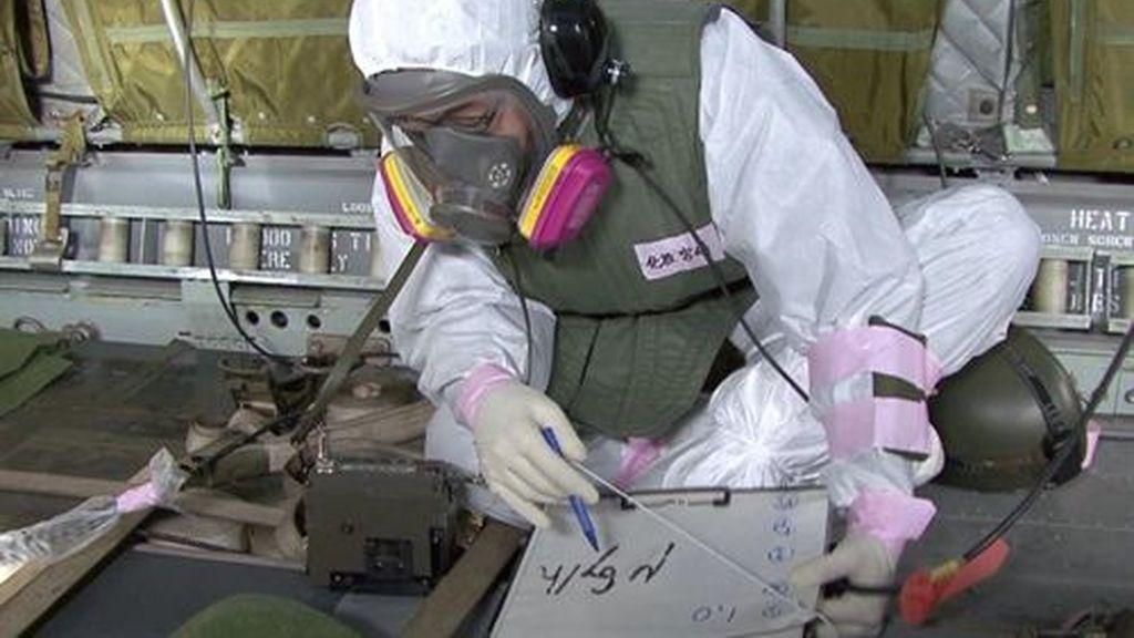 Los trabajadores de Fukushima se preparan para la llegada de un tifón