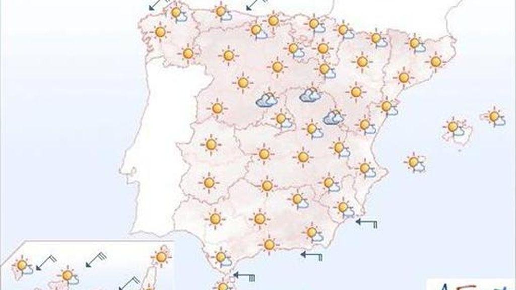 Temperaturas altas en el valle del Ebro, cuadrante suroeste y Canarias. EFE