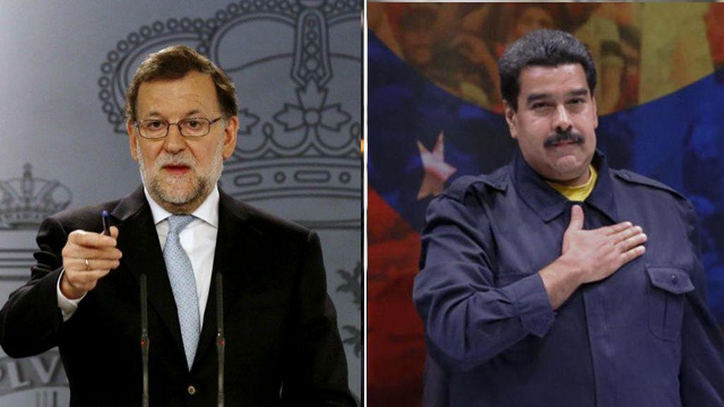 Mariano Rajoy y Nicolás Maduro