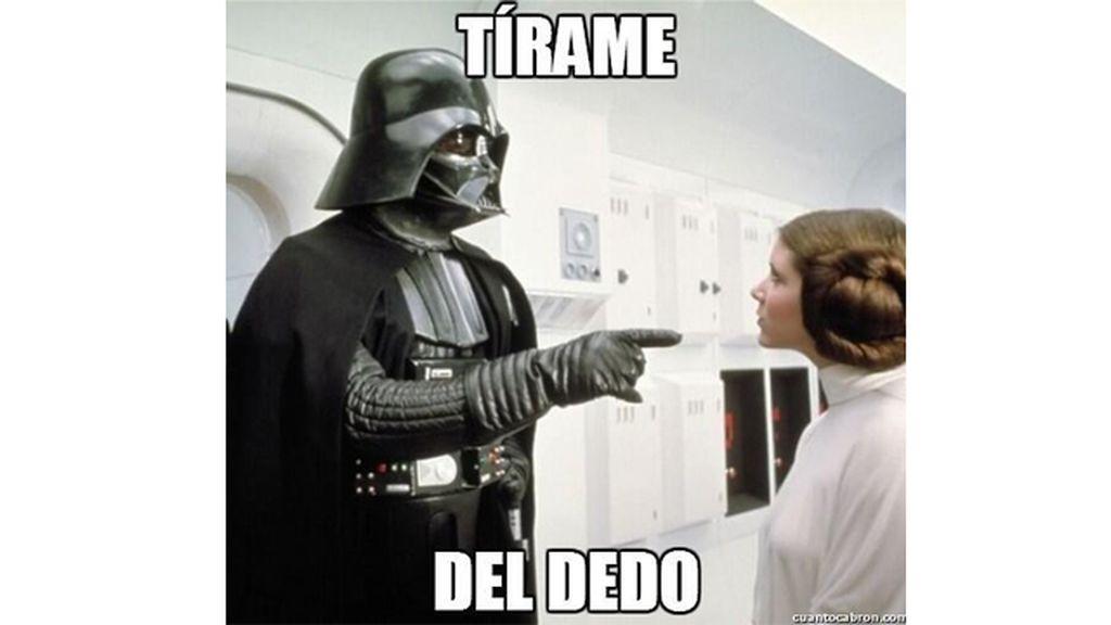 Darth Vader tomándole el pelo a Leia