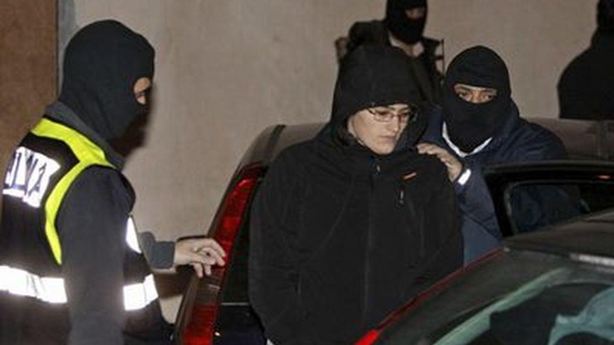 Imagen de archivo de la detención de Irati Mújika