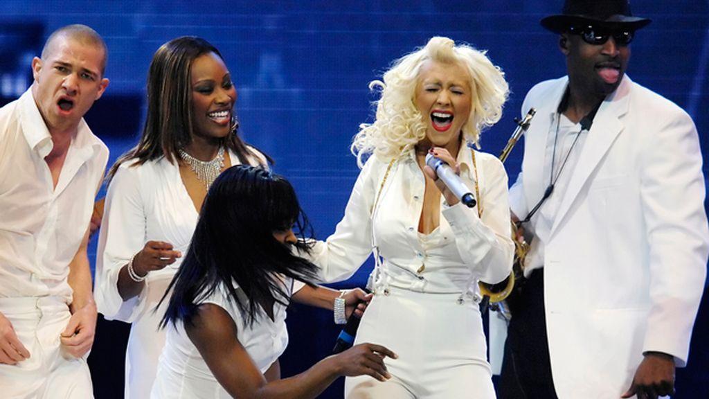 De agudos, con Christina Aguilera