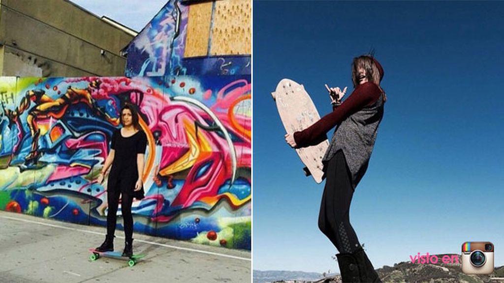 Pero también le apasiona el skateboard...