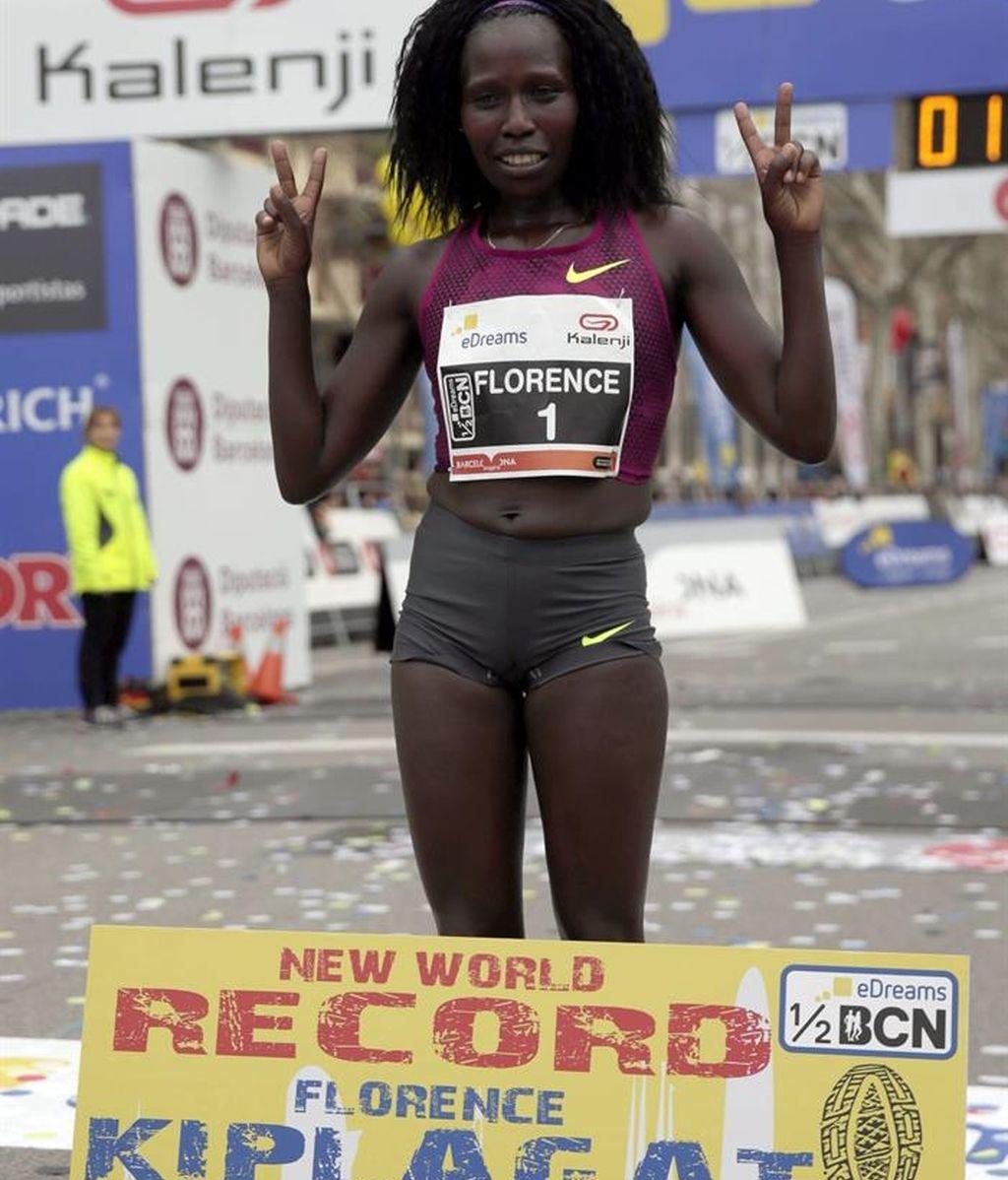 La keniana Florence Jebet Kiplagat bate el récord mundial de medio maratón