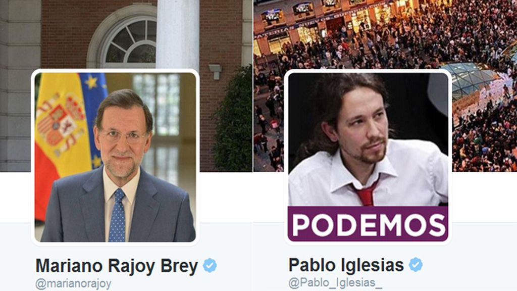 El líder de Podemos, Pablo Iglesias, a punto de superar en seguidores al Presidente del Gobierno, Mariano Rajoy