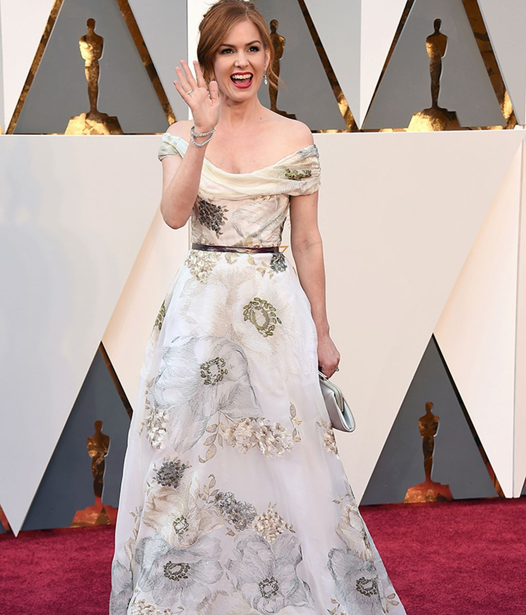 Isla Fisher vestida de Marchesa