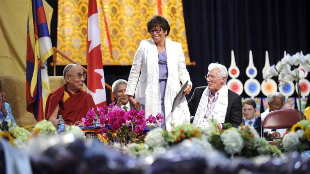 Richard Gere celebra el 80 cumpleaños del Dalai Lama