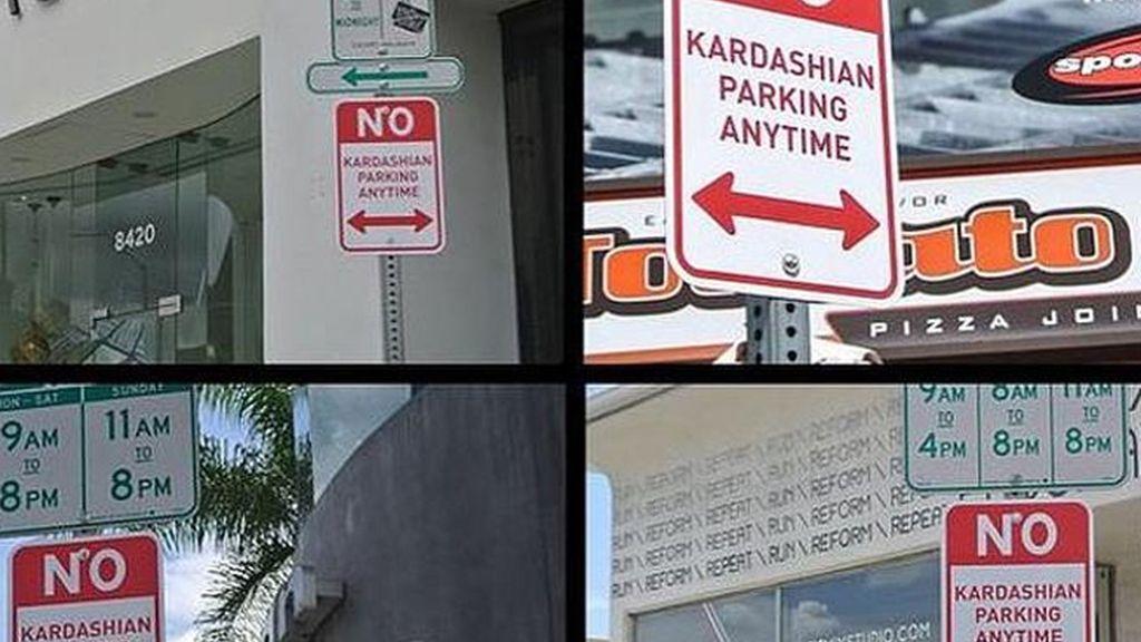 Señales de 'Prohibido aparcar a las Kardashian' aparecen en Hollywood