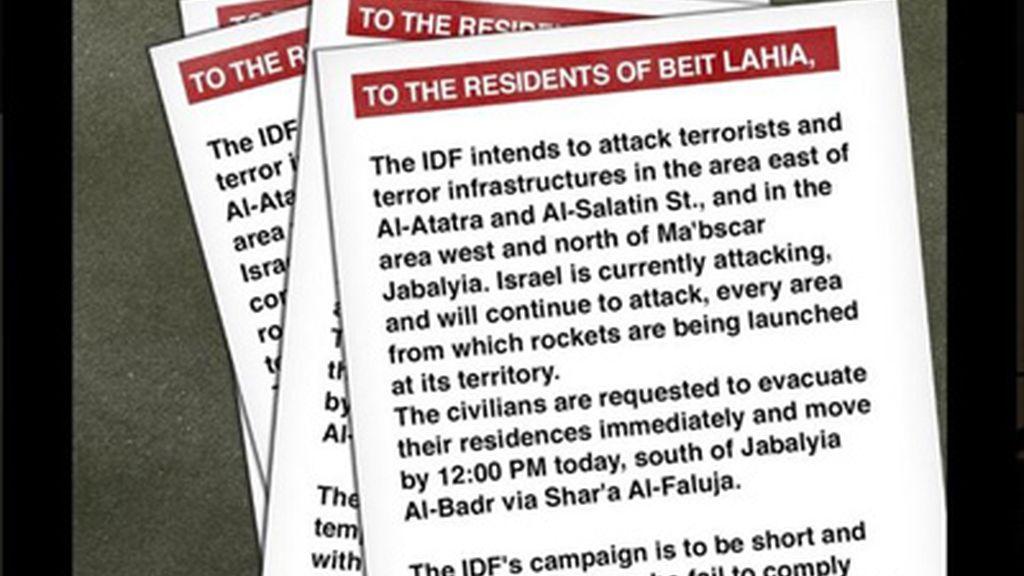 El Ejército israelí pide a los residentes del norte de Gaza que abandonen sus casas antes de mediodía