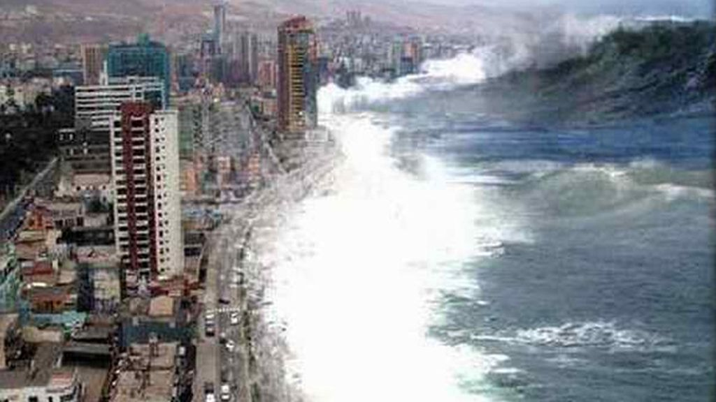 El instante anterior al tsunami en Indonesia