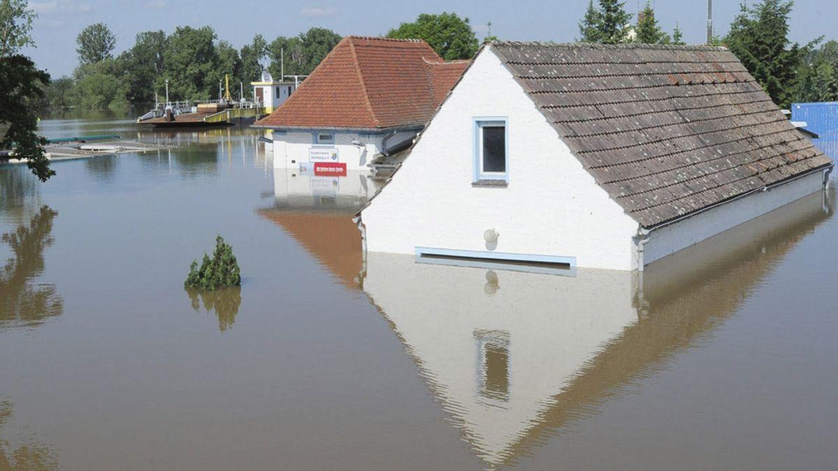 Inundaciones en Muehlberg tras el desbordamiento del río Elba