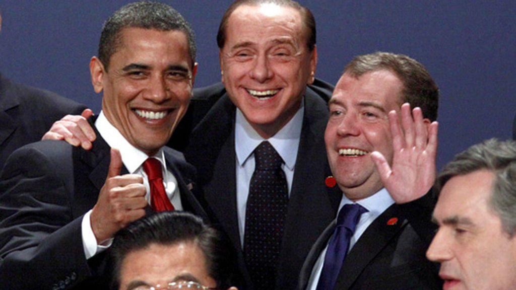 Berlusconi, Obama y Medvedev