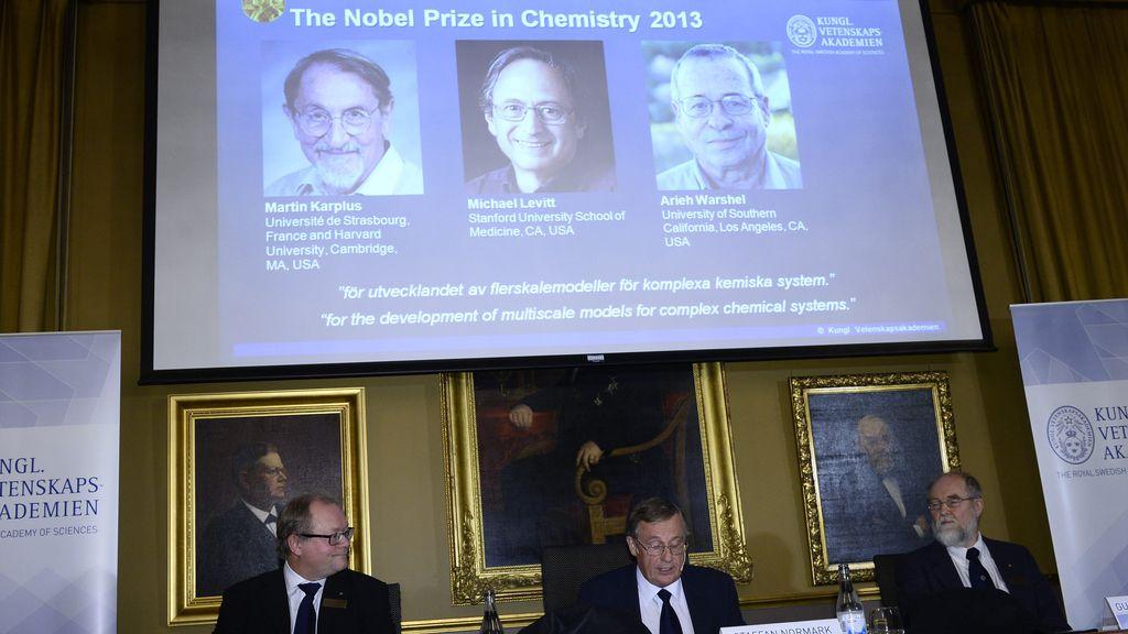 Martin Karplus, Michael Levitt y Arieh Warshel, Nobel de Química 2013